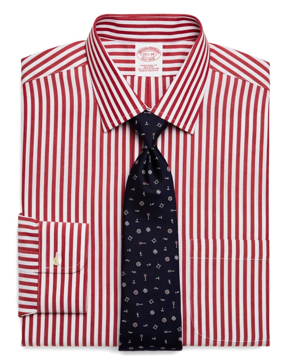Brooks brothers supima cotton noniron extra slim fit wide for Supima cotton dress shirts
