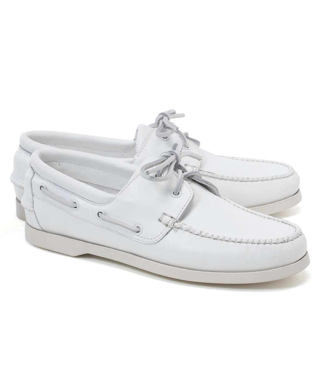 White Polo Boat Shoes