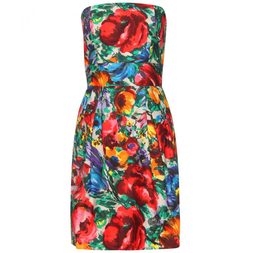 Dolce & gabbana Strapless Print Dress | Lyst