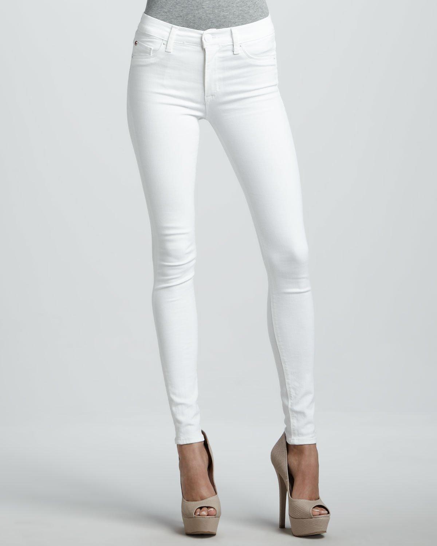 White Super Skinny Jeans - Jon Jean