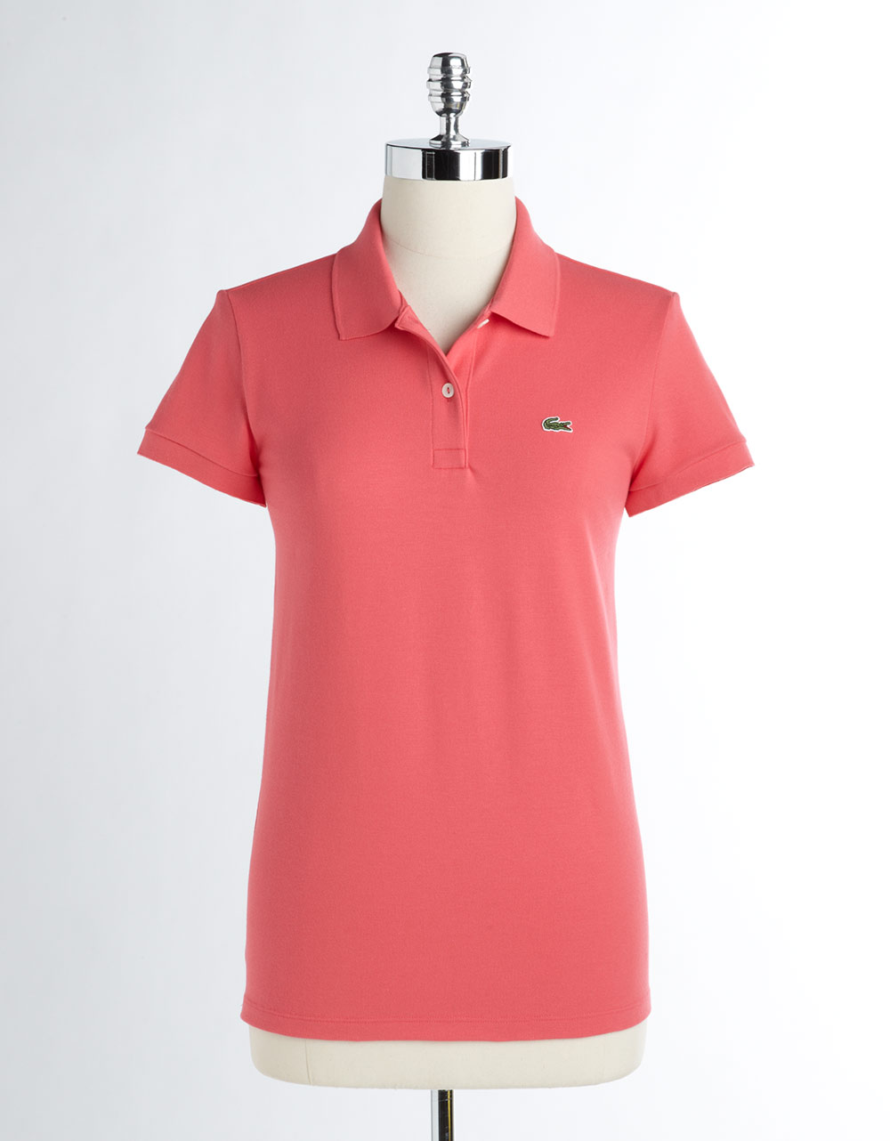 Lacoste Stretch Polo Shirt in Pink | Lyst