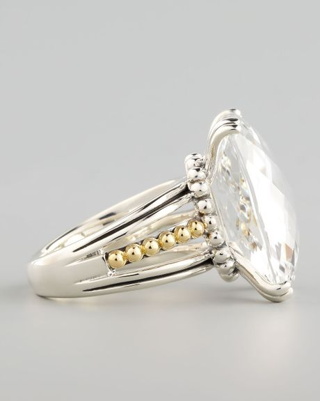 lagos silver illumine ring in silver white topaz lyst