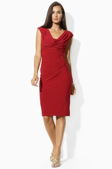 Sheath Dress on Images Of Long Sleeve Red Split Matte Jersey Dress In Wallpaper