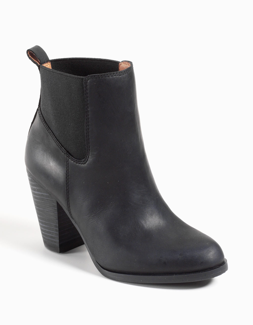 lucky brand parlei leather ankle boots in black black