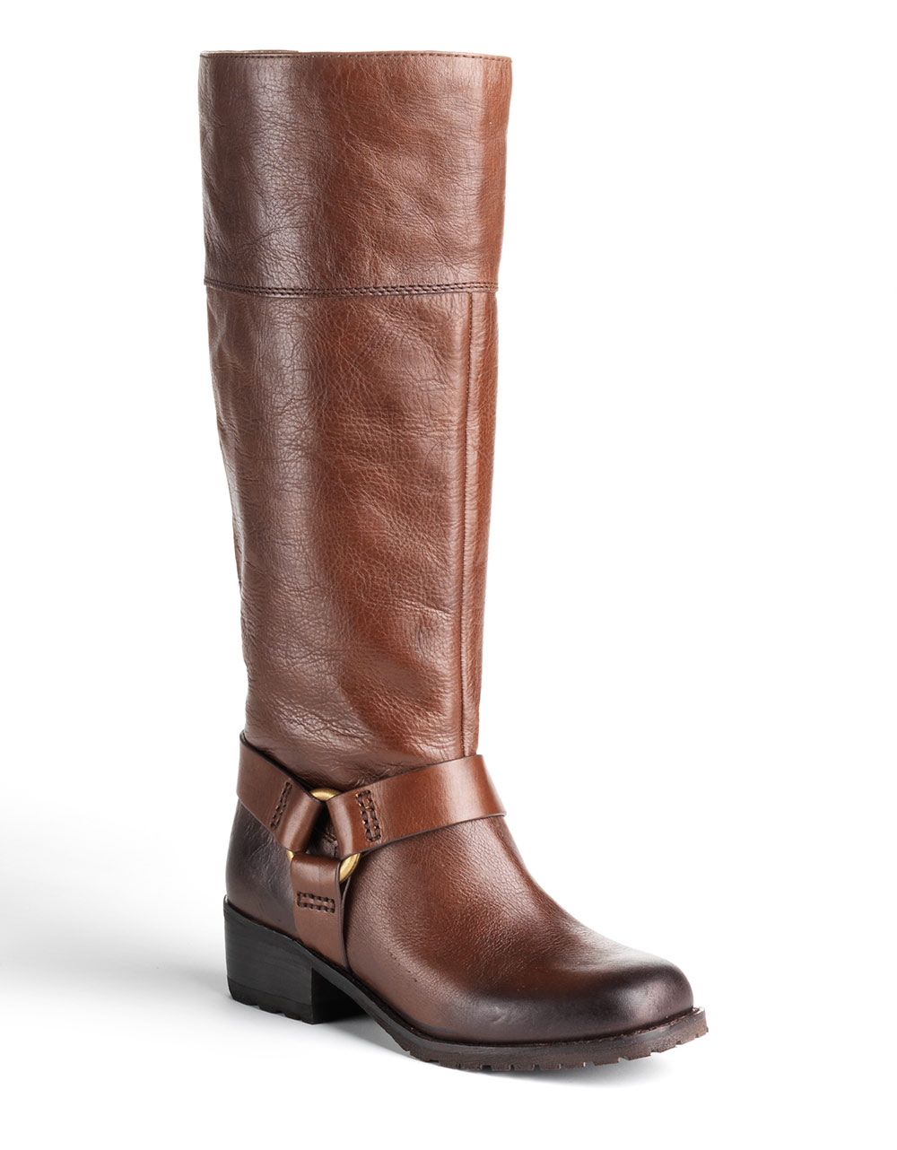 lucky brand abeni leather boots in brown brown leather