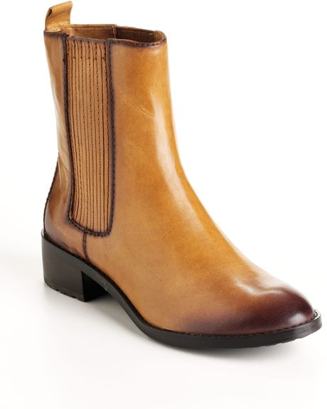 michael michael kors emory flat leather boots in brown