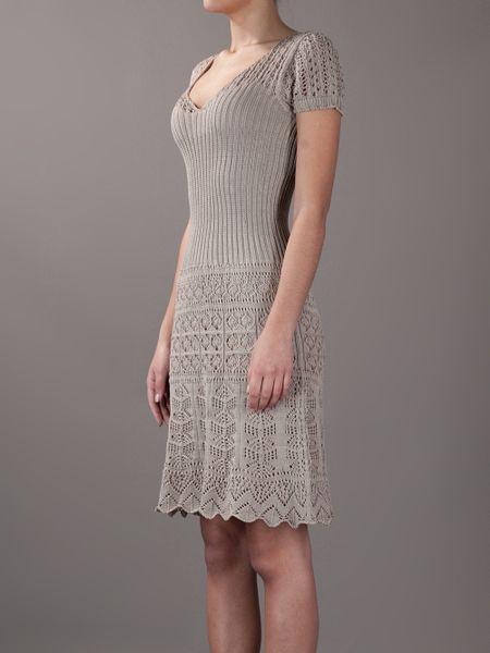 Philosophy Di Alberta Ferretti Crochet And Knit Dress In
