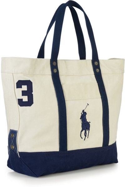 Polo Ralph Lauren Canvas Pony Tote Bag in White for Men
