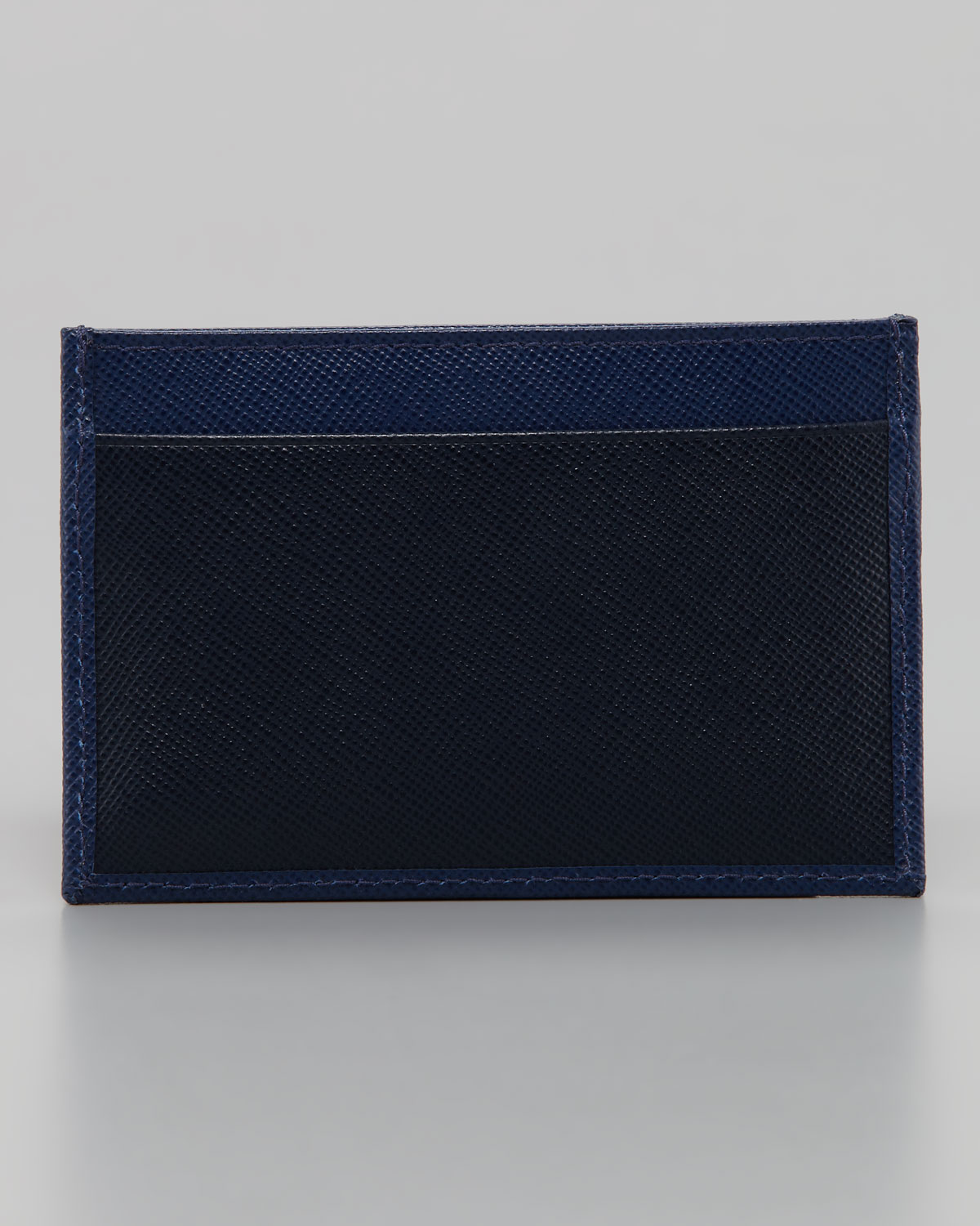Lyst - Prada Leather Business Card Case in Blue for Men