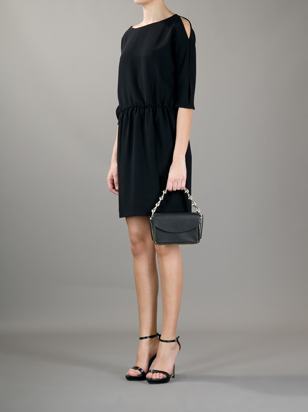 Reed Krakoff Chain Link Handle Clutch In Black Lyst