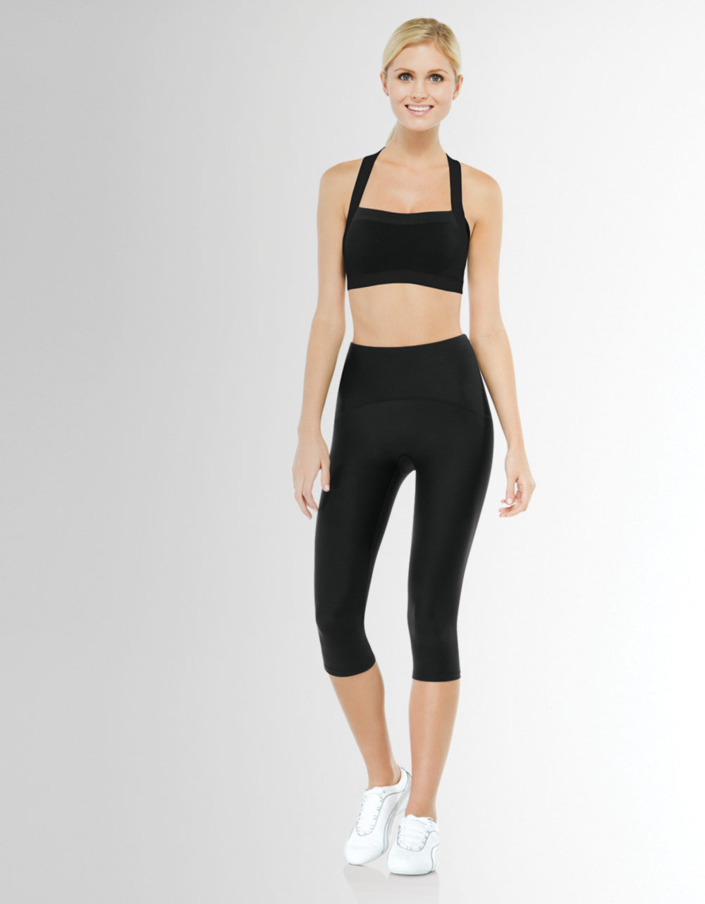 Spanx Shaping Compression Knee Pants in Black