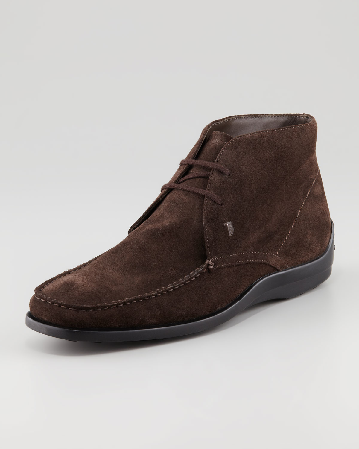 tod s suede ankle boot in brown for lyst