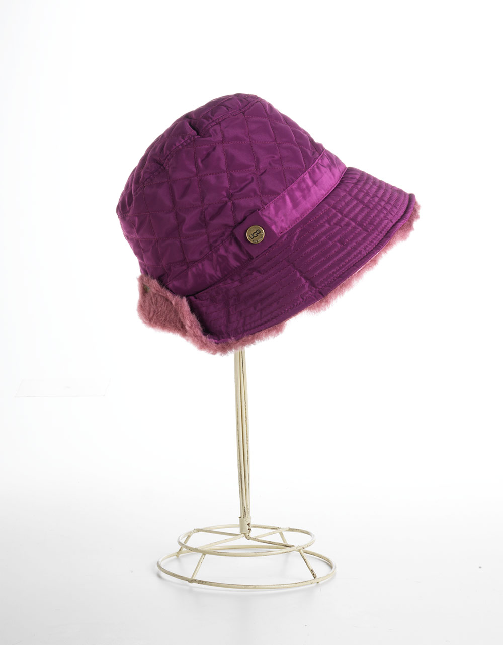 c9a91877425 Lyst - Ugg Quilted Hat in Purple