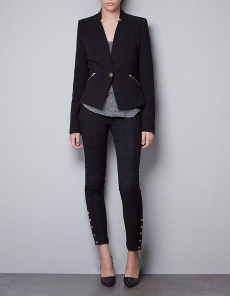 Zara Blazer with Zips in Black