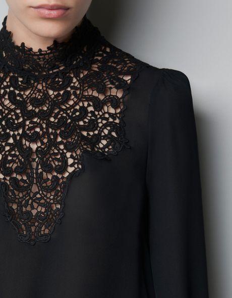Zara Black Lace Blouse 98
