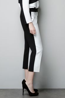 Zara Two-tone Trousers - Lyst