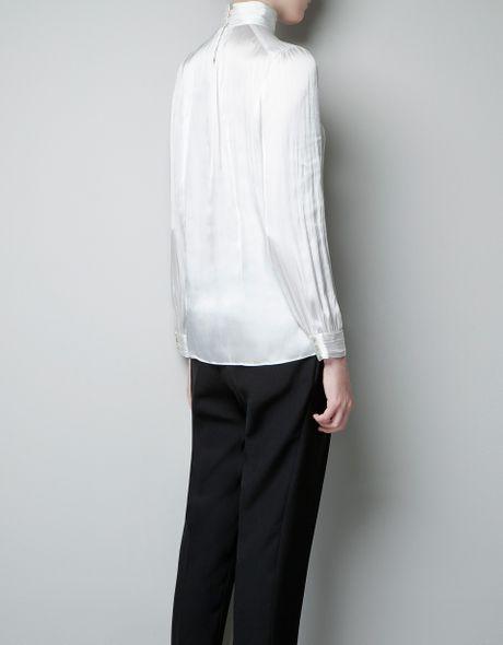 Zara Blouse With High Collar 3