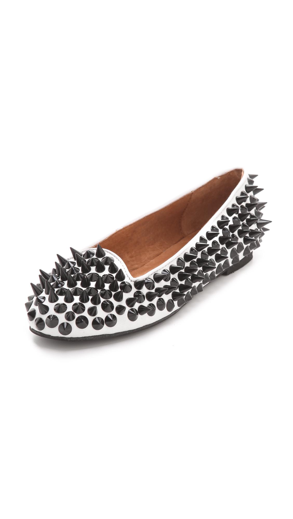 Krisp Soft Pu Metal Studded Nude Loafer Shoes