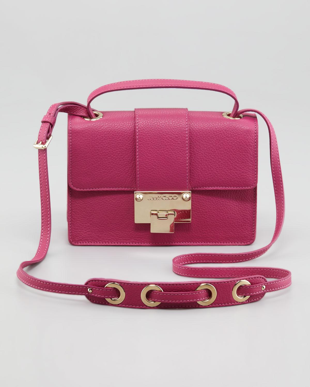 Jimmy choo Rebel Leather Crossbody Bag Purple in Pink | Lyst