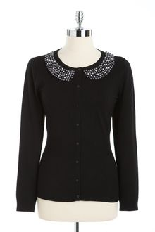 Joseph A Embellished Peter Pan Collar Sweater - Lyst