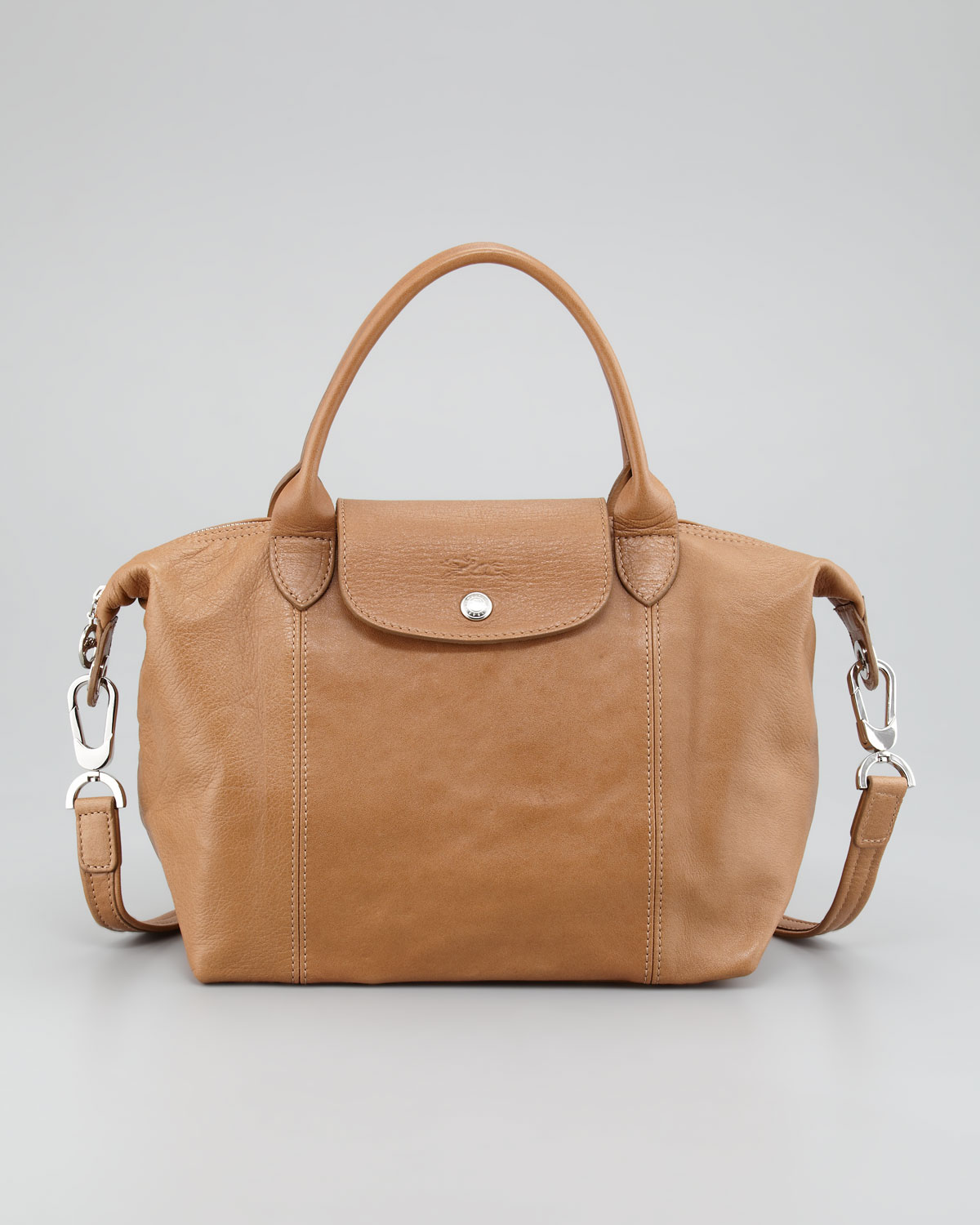 97377d77cc Longchamp Small Leather Tote Bag in Brown - Lyst