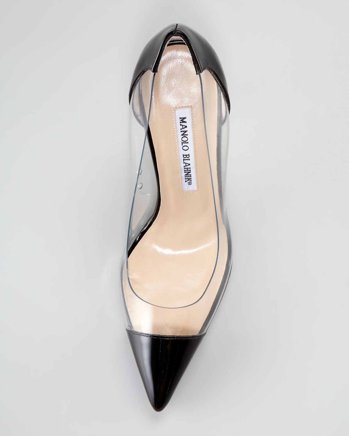 cff94789b65a Lyst - Manolo Blahnik Pacha Clear Pvcpatent Pump in Black