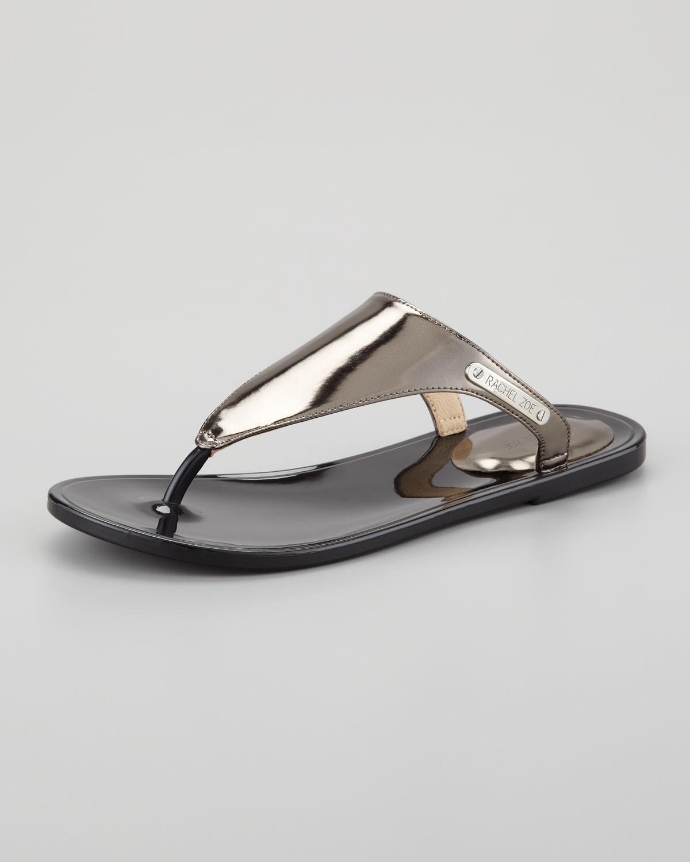 Lyst Rachel Zoe Cami Jelly Thong Sandal In Gray
