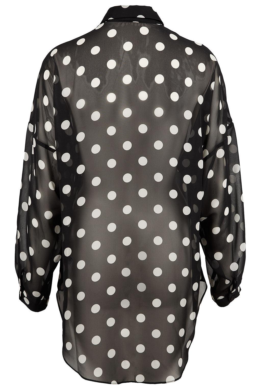 15059d4bed9487 TOPSHOP Oversize Monochrome Spot Shirt in Black - Lyst
