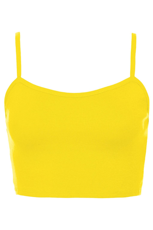 430b61be983 TOPSHOP Bralet Crop Top in Yellow - Lyst