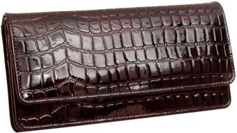 Tusk Crocoembossed Flap Clutch - Lyst
