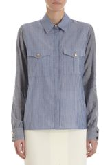 Altuzarra Striped Chambray Shirt