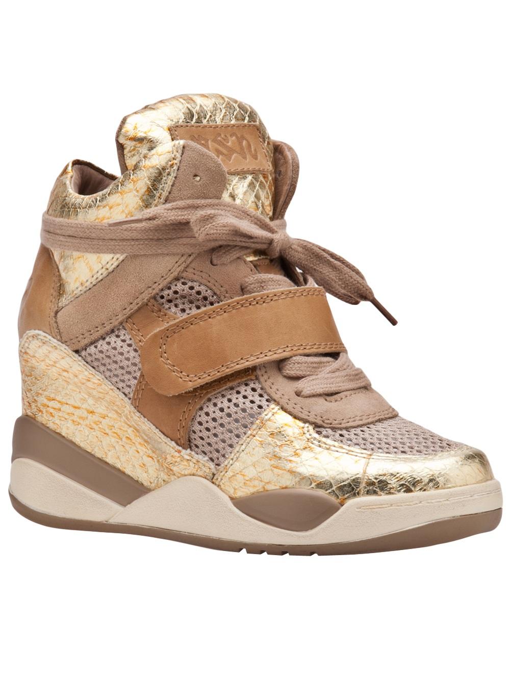 5cd72ed55 Lyst - Ash Funky Wedge Sneaker in Metallic