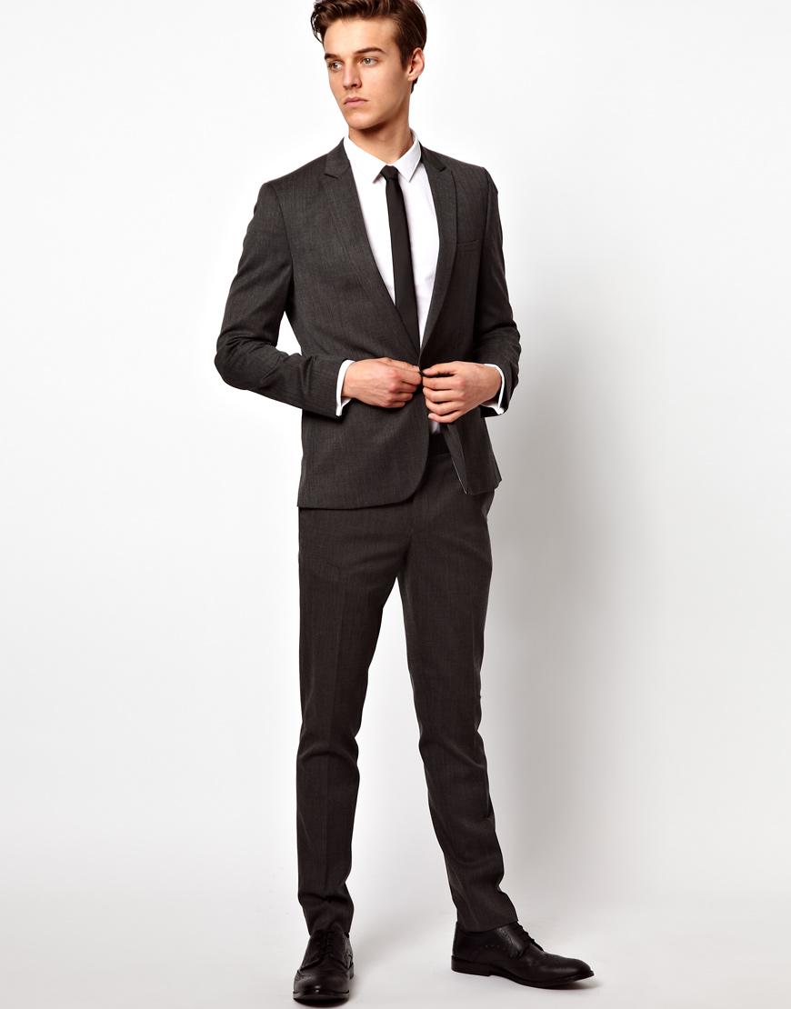 Asos Asos Skinny Fit Gray Suit Pants in Wool Blend in Gray for Men ...