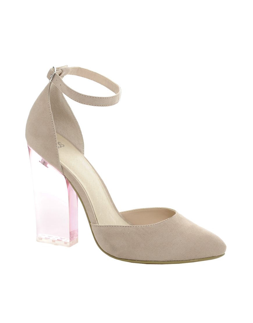 490033a76e69 Lyst - ASOS Asos Prayer Pointed High Heels in Natural