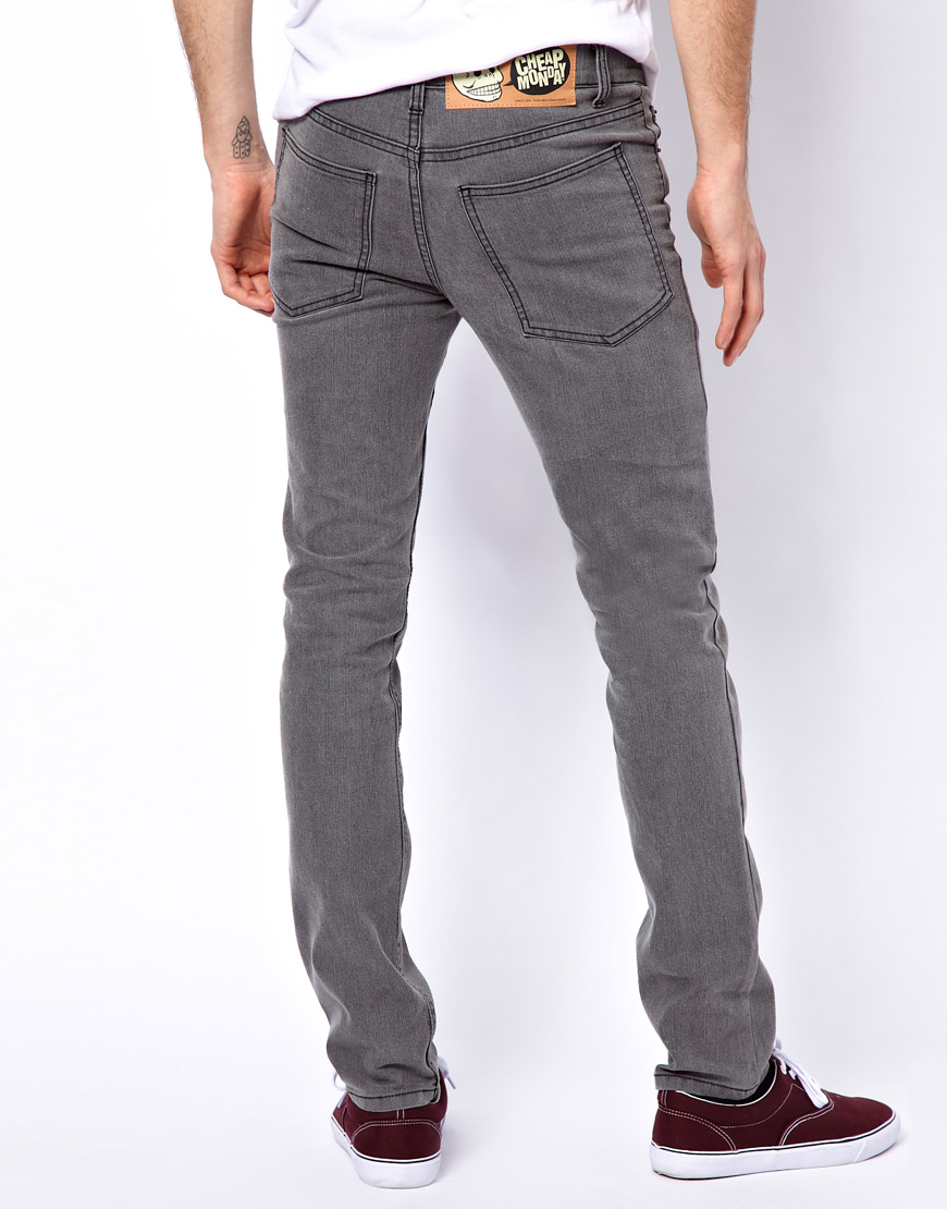 Cheap monday Tight Skinny Jeans in Gray for Men | Lyst