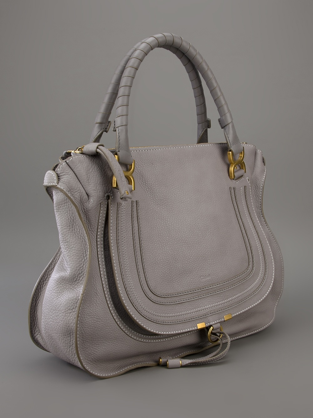 Chlo¨¦ Marcie Large Tote in Gray (grey) | Lyst