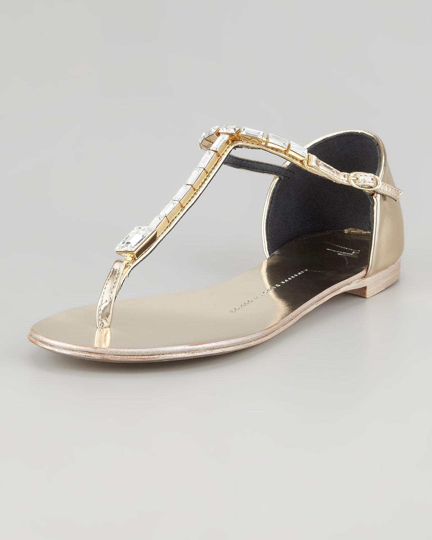 Giuseppe Zanotti Jeweled Tstrap Flat Thong Sandal In ...