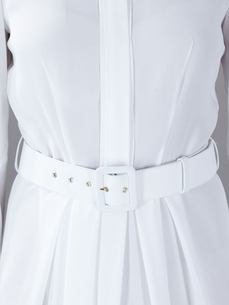 Givenchy Belted Full Length Dress In White Lyst