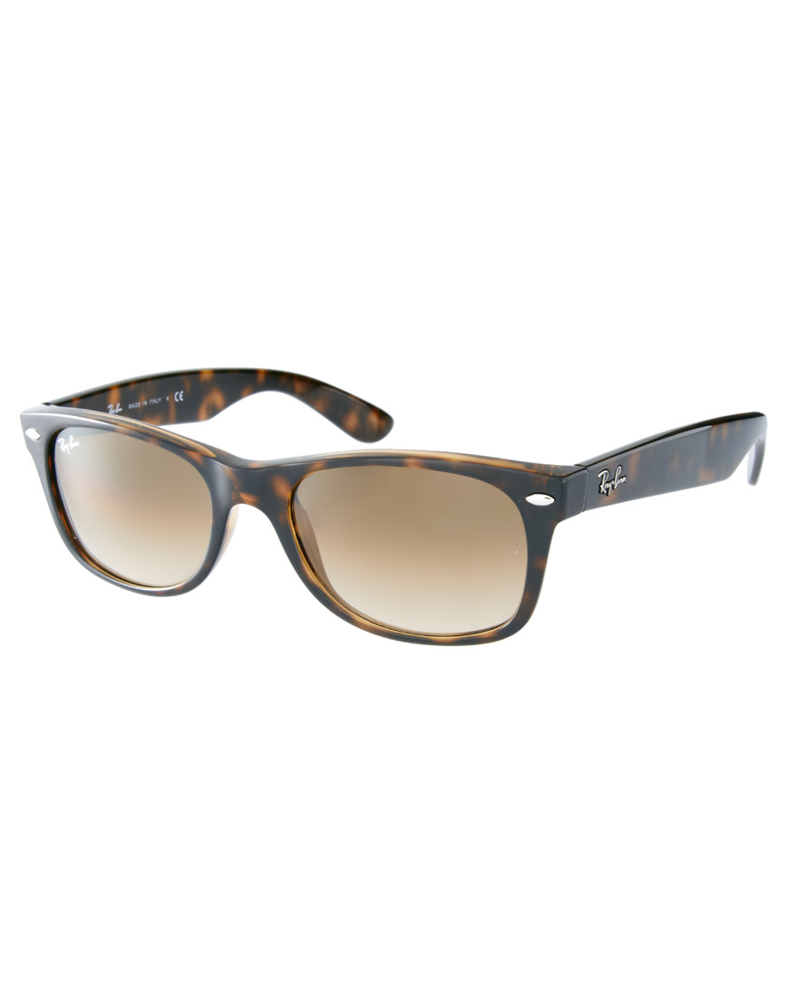 ray ban ray ban light havana new wayfarer sunglasses in black lighthavana lyst. Black Bedroom Furniture Sets. Home Design Ideas