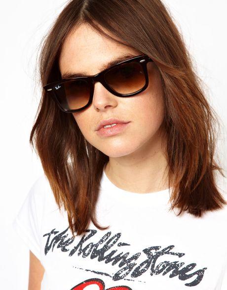 large wayfarer sunglasses 9eyb  Ray-ban Tortoise Original Wayfarer Sunglasses in Brown tortoiseshell