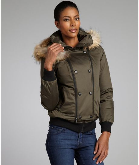 Burberry Brit Down Parka With Fur-Trimmed Hood | canadagoose-jacket