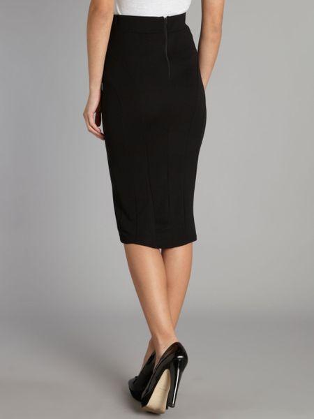 tfnc midi pencil skirt in black lyst