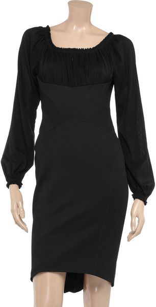 Zac Posen Crepe and Stretch-Twill Dress - Lyst