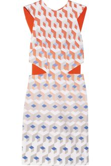 Dion Lee Element Printed Silk-Faille Dress - Lyst