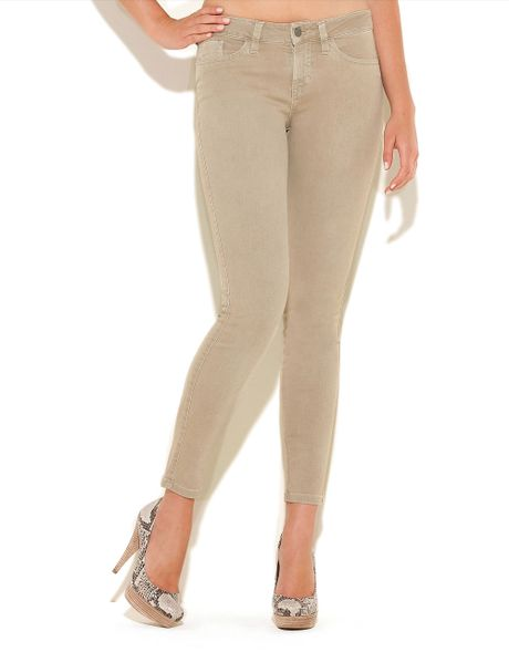 Guess Ankle-Length Brittney Skinny Jeans in Beige (nomad a105)