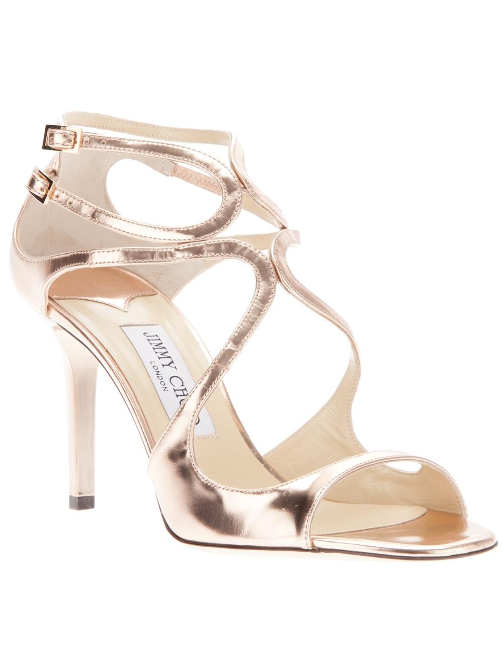 Jimmy Choo Ivette Sandal in Gold
