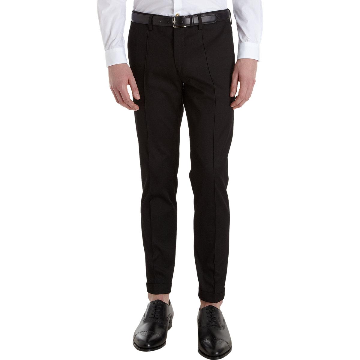 Paul Smith Slim Fit Dress Pants in Black for Men | Lyst