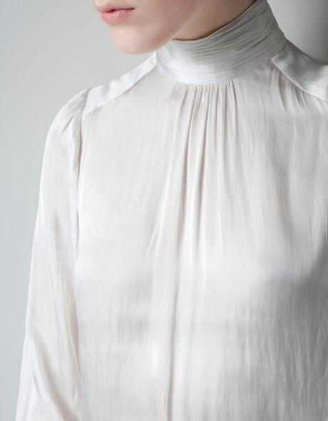 White Blouse Large Collar 26