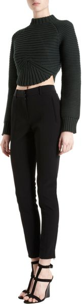 Alexander Wang Rib Knit Cropped Sweater - Lyst