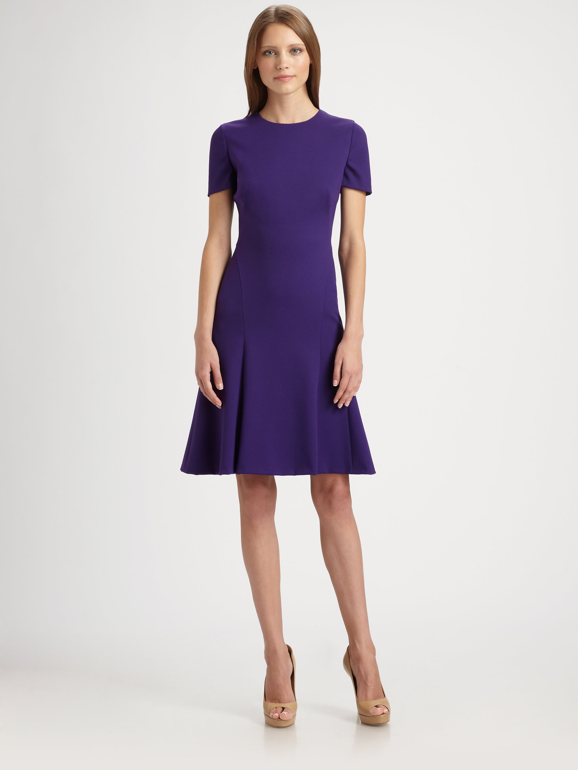 Lyst Akris Punto Jersey Dress In Purple